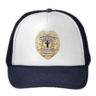 Badge Cross - Thin Blue Line Trucker Hat