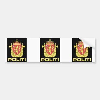 Badge el servicio policial noruego, Noruega Etiqueta De Parachoque