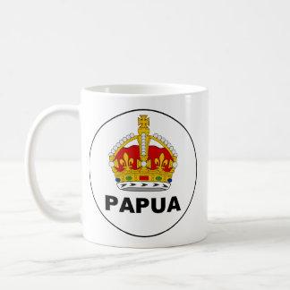 Badge el territorio Papua, Papúa Nueva Guinea Taza Clásica