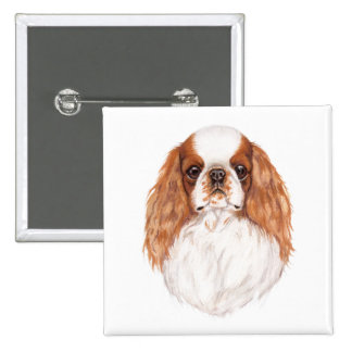 Badge: ENglish toy ( king charles) spaniel Buttons