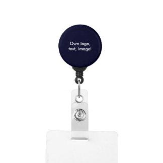 Badge Holder - Carabiner uni Dark Blue