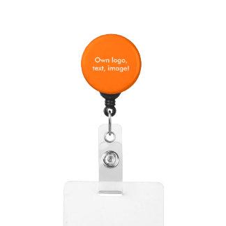 Badge Holder - Carabiner uni Orange