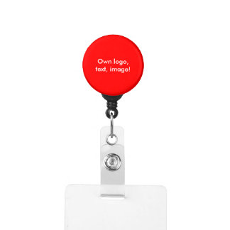 Badge Holder - Carabiner uni Red