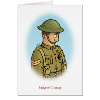 Badge of Courage Card