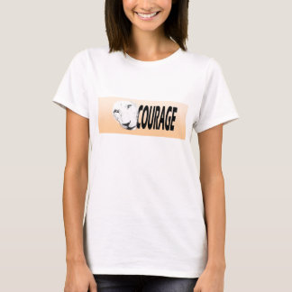 Badge of Courage (Peach Banner) T-Shirt