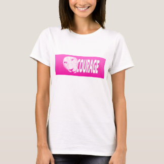 Badge of Courage (Pink Banner) T-Shirt