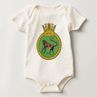 Badge of HMS Artful Baby Bodysuit