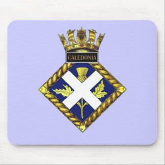 Badge of HMS Caledonia Mouse Pad