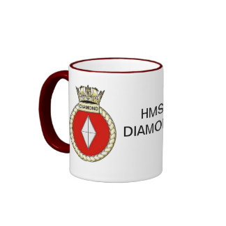Badge of HMS DIAMOND Ringer Mug