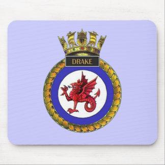 Badge of HMS Drake Mouse Pad