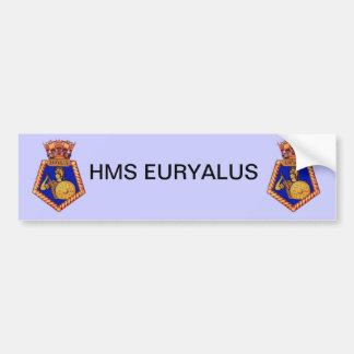 Badge of HMS Euralyus, Former British Naval vessel Bumper Stickers