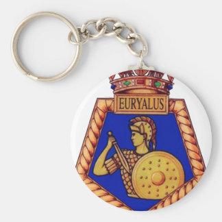 Badge of HMS Euralyus, Former British Naval vessel Keychain
