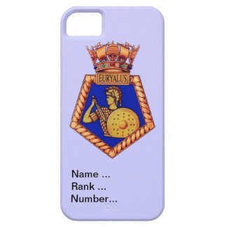 Badge of HMS Euralyus, Name, Rank and Number iPhone SE/5/5s Case