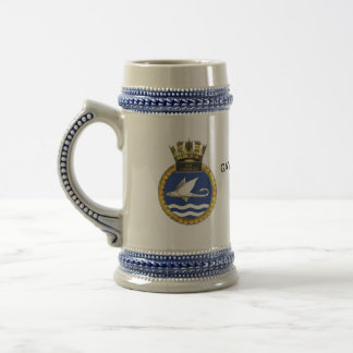 Badge of HMS Gay Charger Beer Stein