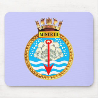 Badge of HMS Miner III Mouse Pad