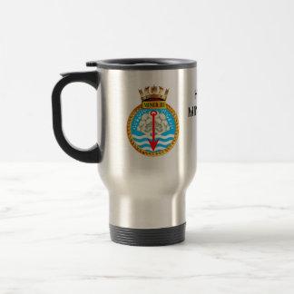 Badge of HMS Miner III 15 Oz Stainless Steel Travel Mug