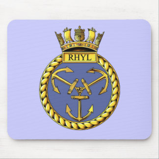Badge of HMS Rhyl Mouse Pad