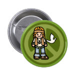 badge of peace. pinback button