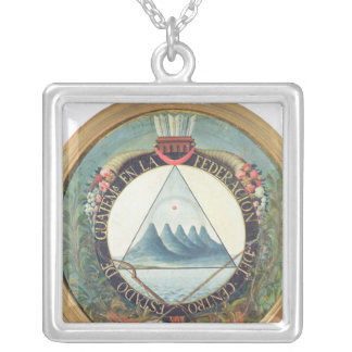 Badge of the Federation of Guatemala Silver Plated Necklace