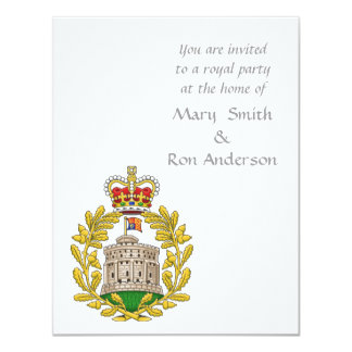 Badge of the House of Windsor 4.25x5.5 Paper Invitation Card
