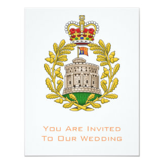 """Badge of the House of Windsor 4.25"""" X 5.5"""" Invitation Card"""
