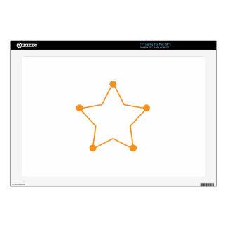 Badge Outline Laptop Skins
