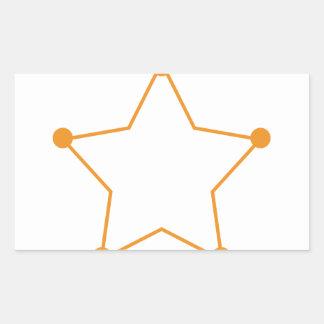 Badge Outline Rectangular Sticker