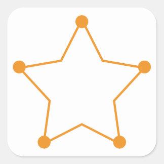 Badge Outline Square Sticker
