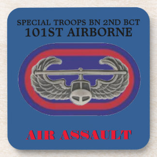 BADGE/OVAL STB 2ND BCT 101ST OVAL STICKERS DRINK COASTER