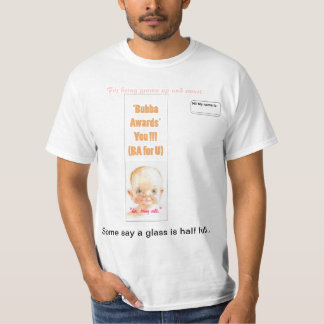 """badge -please add name' text"""" T-Shirt"""