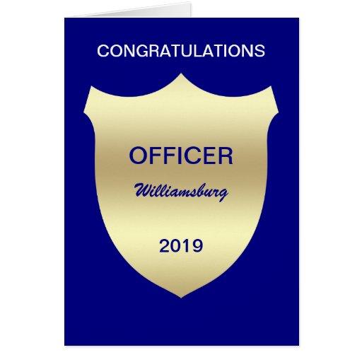 Badge Police Academy Graduation Card