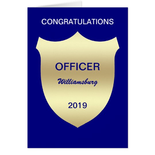 Badge Police Academy Graduation Card