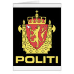 Badge the Norwegian Police Service, Norway Greeting Card