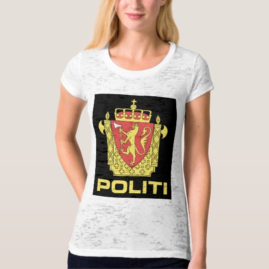 Badge the Norwegian Police Service, Norway T-Shirt