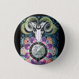 Badge:  Wicca Ram. Button