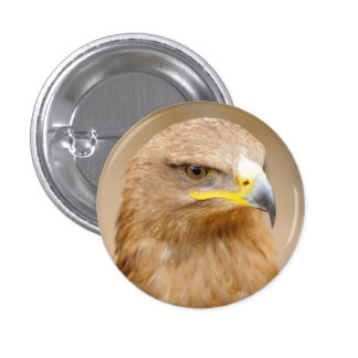 Badge with Golden Eagle Pinback Button