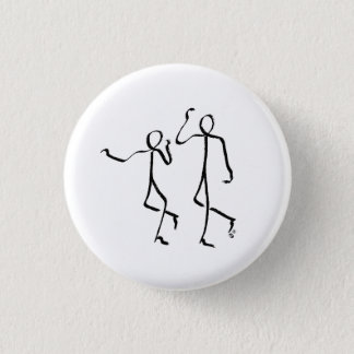 Badge with two Charleston dancers Button