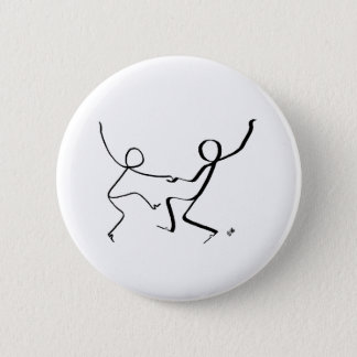 Badge with two Jitterbug dancers. Pinback Button