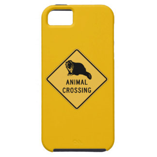 Badger Crossing, Traffic Warning Sign, Wyoming, US iPhone 5 Cover