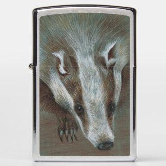 badger face Zippo lighter
