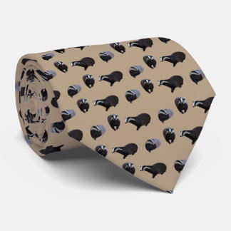 Badger Frenzy Tie Double Sided Print (Beige)