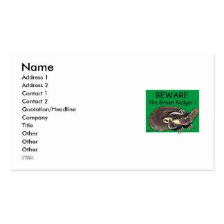 Badger_GREEN, nombre, dirección 1, dirección 2, Co Tarjeta Personal