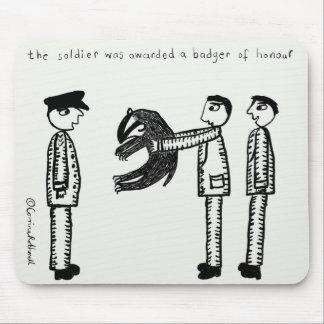 Badger of Honour Mousemats