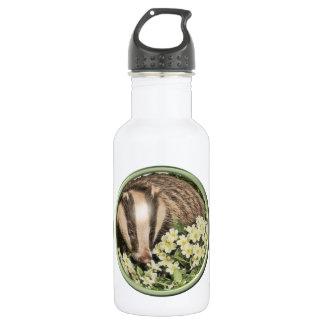 Badger on the Primrose Bank 18oz Water Bottle