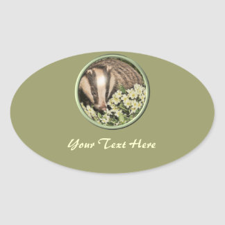 Badger on the Primrose Bank Sticker