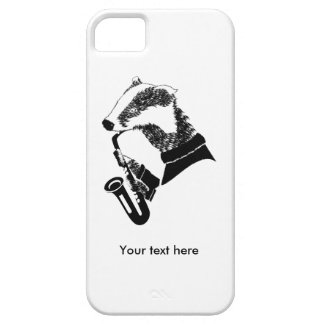 Badger Playing A Saxophone Personalized iPhone SE/5/5s Case
