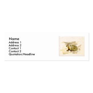 Badger profile card. business card templates