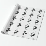 Badger Saxophone Customizable Text Wrapping Paper