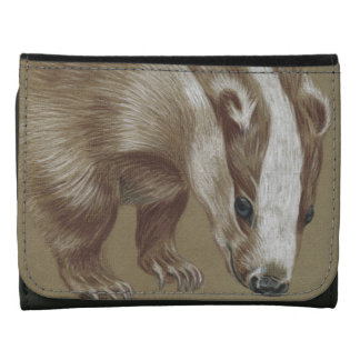 badger small leather wallet