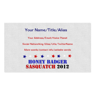 BADGER/SQUATCH TICKET BUSINESS CARD